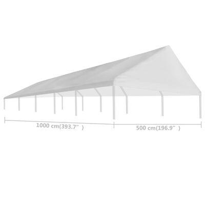 vidaXL tag til festtelt 5 x 10 cm hvid