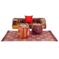 vidaXL modulært sofasæt i 6 dele stof patchwork