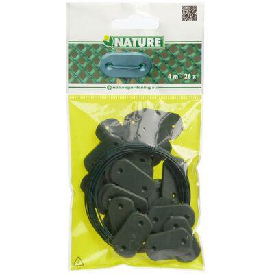 Nature fastgørelsessæt til havehegn i 27 dele grøn