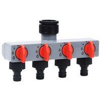 vidaXL automatisk vandingstimer med 4-vejs vandfordeler