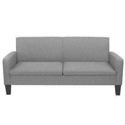 vidaXL 3-personers sofa 180 x 65 x 76 cm lysegrå