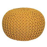 LABEL51 puf str. M strikket bomuld gul