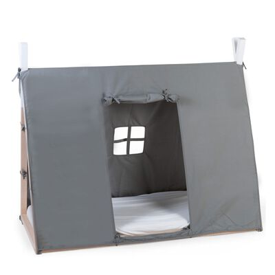CHILDHOME tipiformet sengebaldakin 70 x 140 cm grå