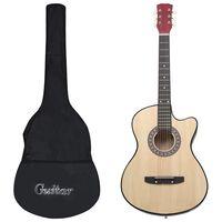 """vidaXL akustisk western-guitarsæt 12 dele med 6 strenge 38"""""""