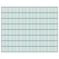 vidaXL havehegnspaneler 2D 2,008x1,63 m 4 m (total længde) grøn
