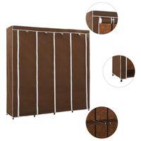 vidaXL klædeskab med 4 rum 175 x 45 x 170 cm brun