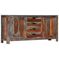 vidaXL skænk 160 x 40 x 75 cm massivt sheeshamtræ grå