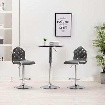 vidaXL barstole 2 stk. kunstlæder grå