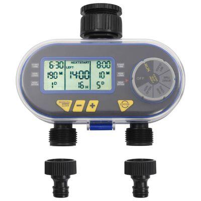 vidaXL digital vandingstimer med 2 slangeudtag og fregnsensor