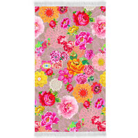 Happiness badehåndklæde WOODSTOCK 100x180 cm flerfarvet