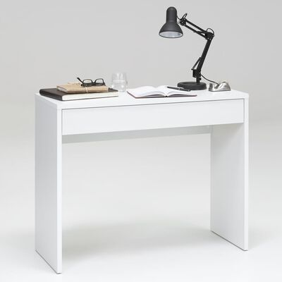FMD skrivebord med bred skuffe 100 x 40 x 80 cm hvid