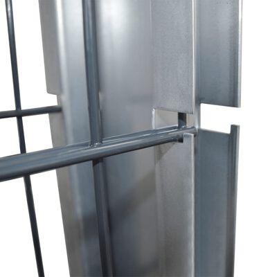 vidaXL 2D gabionhegn galvaniseret stål 2,008x1,63 m 4 m grå