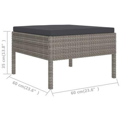 vidaXL loungesæt til haven 2 dele med hynder polyrattan grå