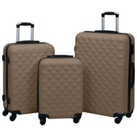 vidaXL kuffertsæt 3 stk. hardcase ABS brun