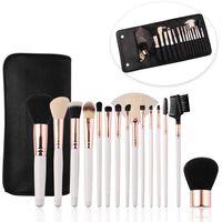 Sæt Med 15 Forskellige Makeupbørster Og -børster