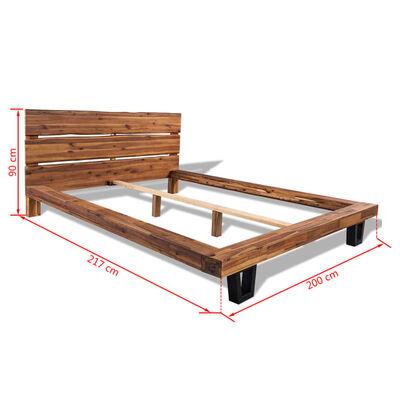 vidaXL sengestel i massivt akacietræ 180 x 200 cm