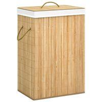 vidaXL vasketøjskurv 72 l bambus