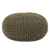 LABEL51 puf strikket bomuld str. L armygrøn