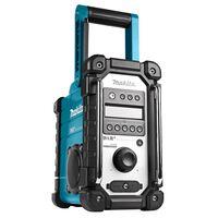 Makita arbejdsradio uden batterier og oplader blå og sort