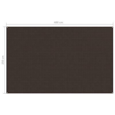 vidaXL telttæppe 250x400 cm brun