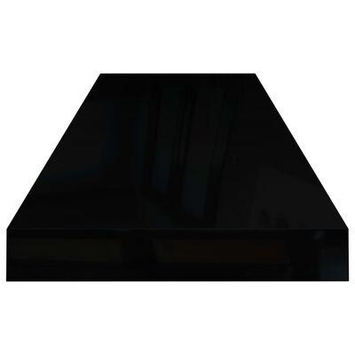 vidaXL svævehylde 80x23,5x3,8 cm MDF sort højglans