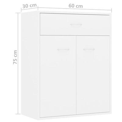vidaXL skænk 60 x 30 x 75 cm spånplade hvid