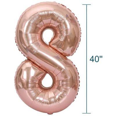 Nummerballon 102 Cm, Nummer 4 - Pink