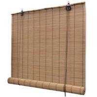 vidaXL rullegardin bambus 150 x 160 cm brun