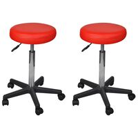 vidaXL kontorstole 2 stk. 35,5 x 98 cm rød kunstlæder
