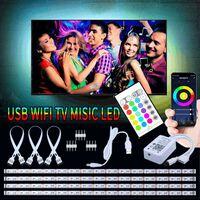 LED-loop til TV Google / Wifi + Fjernbetjening + lydstyring