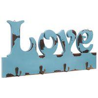 vidaXL vægophængt knagerække LOVE 50 x 23 cm