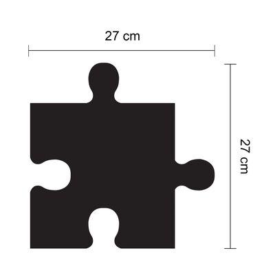 WALPLUS vægklistermærke kridttavle puslespil 54 x 54 cm sort