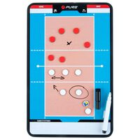 Pure2Improve dobbeltsidet trænertavle volleyball 35 x 22 cm P2I100690