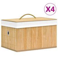 vidaXL opbevaringskasser 4 stk. bambus