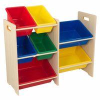 KidKraft legetøjsopbevaringsenhed med 7 kasser beige  83 x 30 x 73,7 cm 15470
