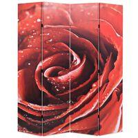 vidaXL foldbar rumdeler 160 x 170 cm rose rød