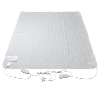 vidaXL varmetæppe elektrisk 3 indstillinger 150 x 140 cm polyester