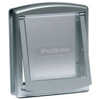 PetSafe 2-vejskæledyrsdør 737 lille 17,8 x 15,2 cm sølv 5019