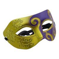 Venetiansk Maske - Guld/Lilla