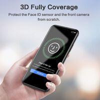 Skærmbeskytter iPhone XR hærdet glas / 3D massivt sort