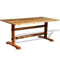 vidaXL spisebord vintagestil genbrugstræ