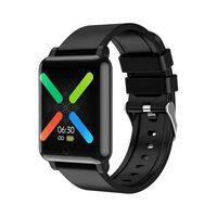Vandtæt Smartwatch, Der Måler Hjerterytme, Temperatur, Blodtryk - Sort