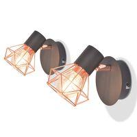 vidaXL væglamper 2 stk. med 2 LED-filamentpærer 8 W
