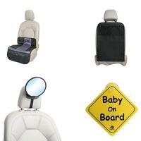 A3 Baby & Kids biltilbehørssæt til babyer 4 dele sort