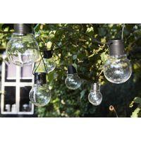 Luxform Menorca batteridrevne festlys med 10 LED-pærer transparant