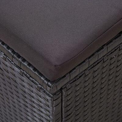 vidaXL loungesæt til haven 6 dele med hynder polyrattan sort