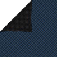 vidaXL flydende solopvarmet poolovertræk 600x400 cm PE sort og blå
