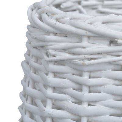 vidaXL lampeskærm 20x15 cm flet hvid