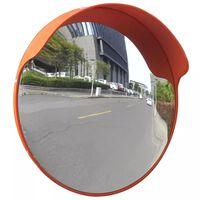 vidaXL konvekst trafikspejl PC plast orange 45 cm udendørs