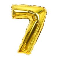 Nummerballon 53 cm, nummer 7 - guld